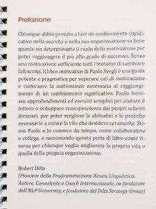 Prefazione di Robert Dilts a Motivational, libro di Paolo Svegli